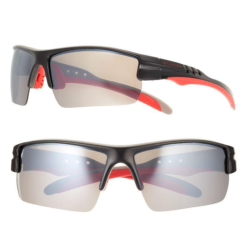 Men's Columbia Semirimless Polarized Rectangle Wrap Sunglasses