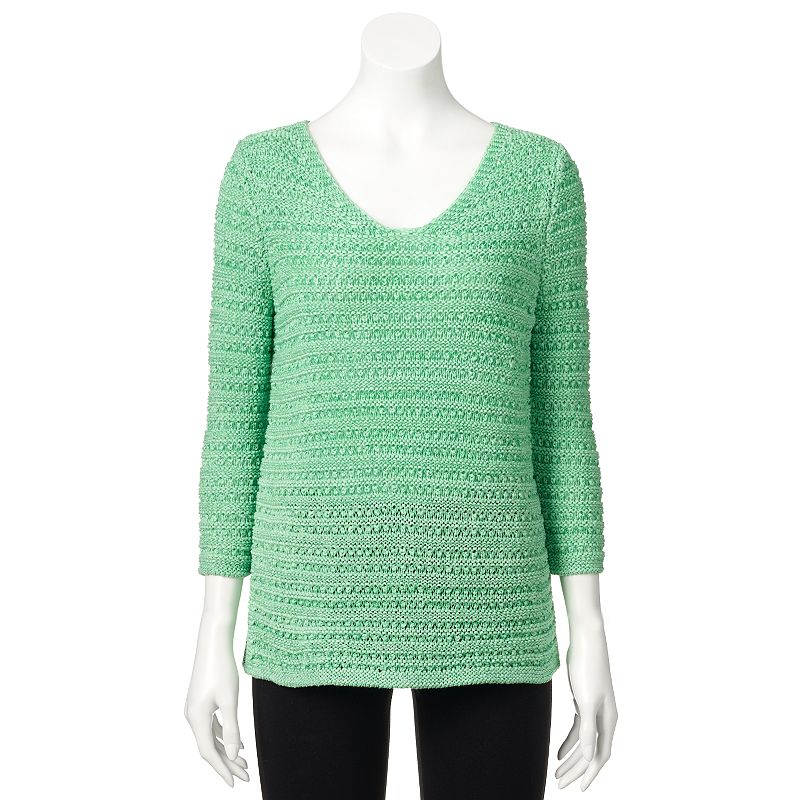 Women's Dana Buchman Tape Yarn Scoopneck Sweater