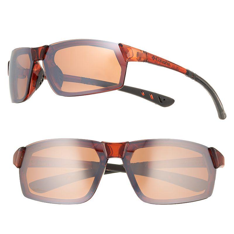 Men's Columbia Rimless Polarized Sport Wrap Sunglasses