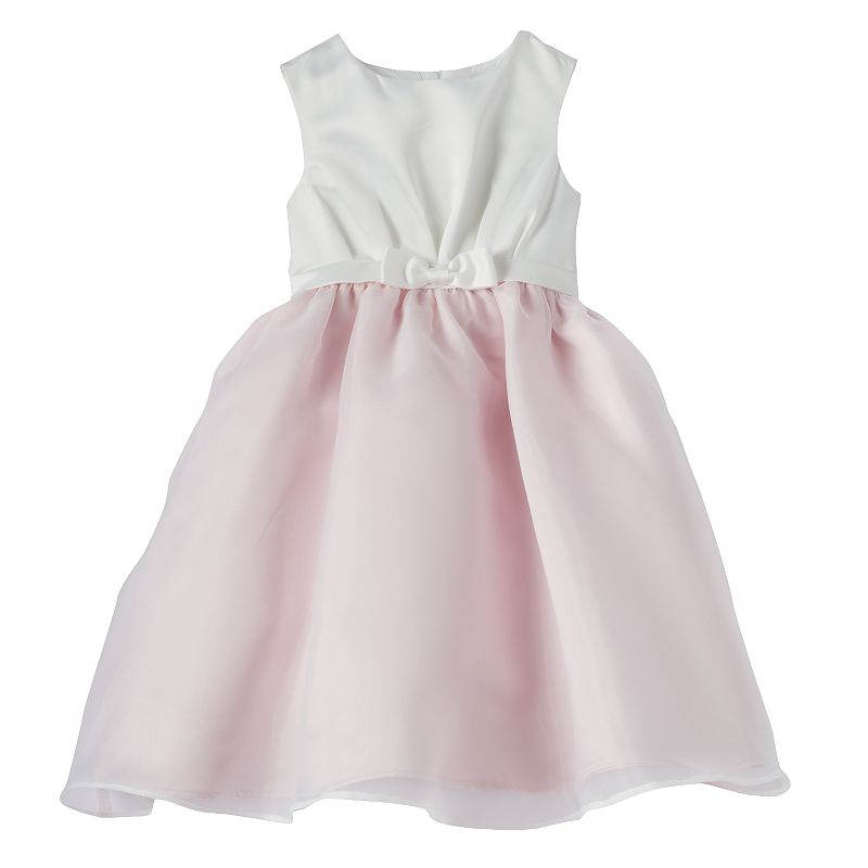 Toddler Girl Lavender by Us Angels Bow Dress