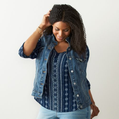 Plus Size SONOMA Goods for Life™ Jean Vest