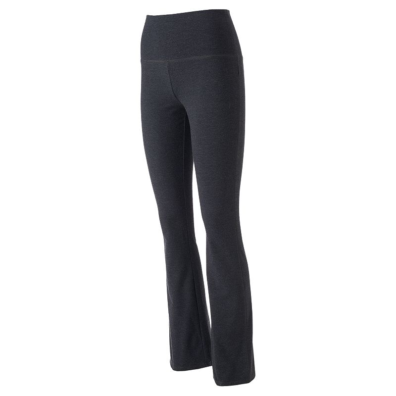 Juniors' SO® Fold-Over Heathered Bootcut Yoga Pants