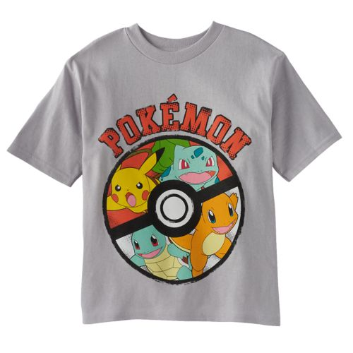 Boys 4-7 Pokemon Gray Tee