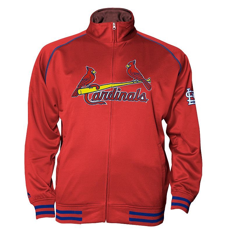 Big & Tall Majestic St. Louis Cardinals Tricot Jacket