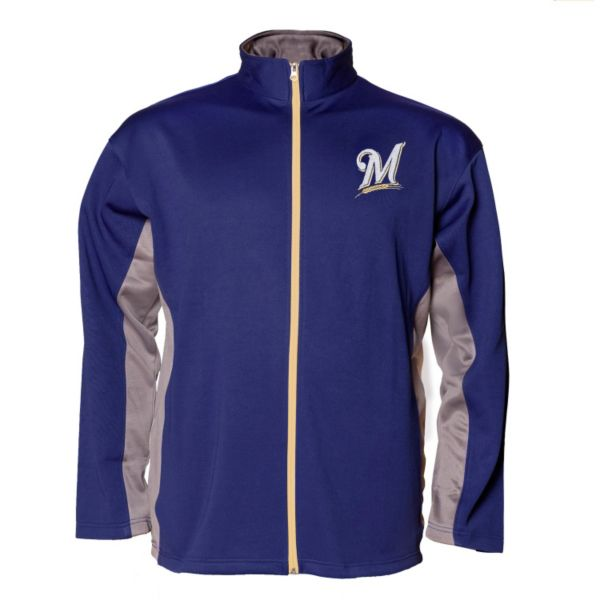 Big & Tall Milwaukee Brewers Fleece Jacket