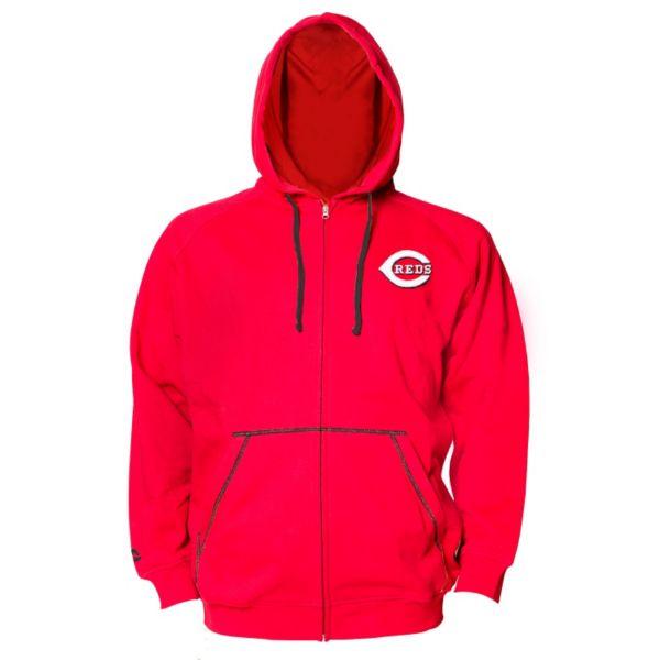 Big & Tall Majestic Cincinnati Reds Full-Zip Fleece Hoodie