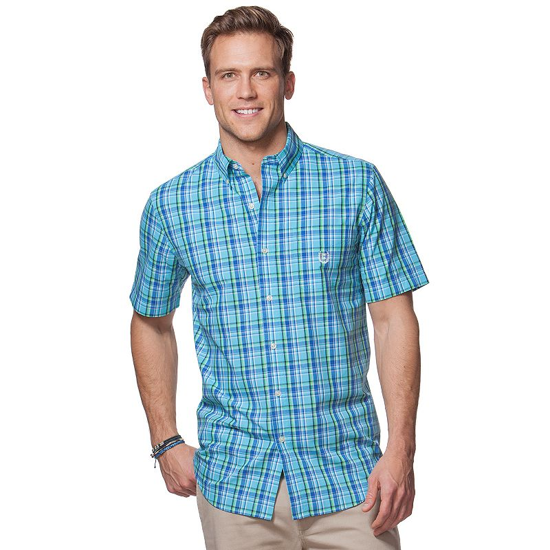 Men's Chaps Plaid Woven Button-Down Shirt