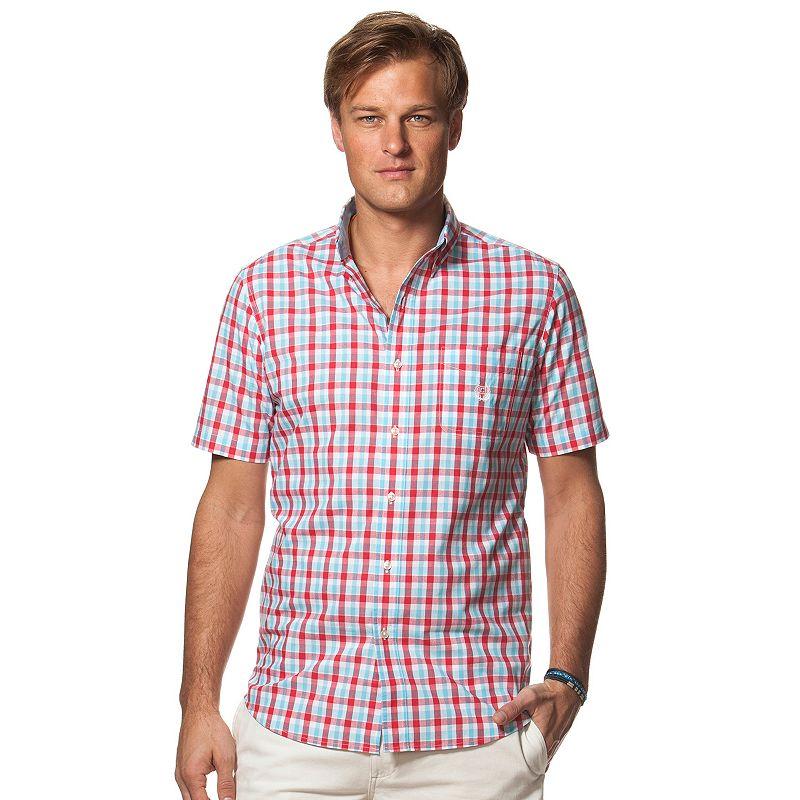 Men 39 s chaps classic fit plaid button down shirt dealtrend for Chaps button down shirts