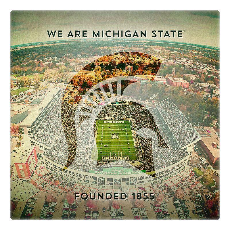 Michigan State Spartans Stadium Canvas Wall Art
