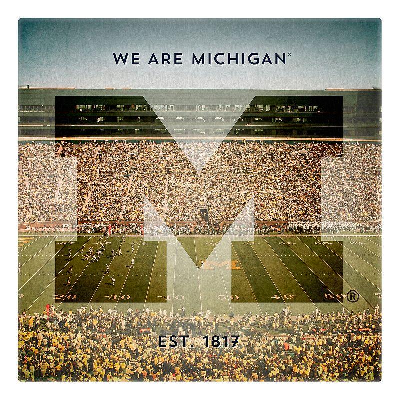 Michigan Wolverines Stadium Canvas Wall Art