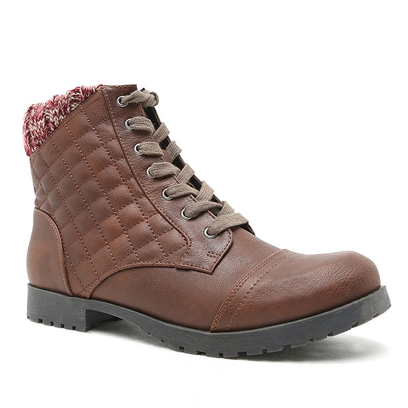 Qupid Wyatte Women's Quilted Combat Boots