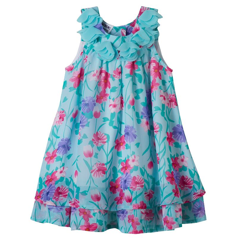 Baby Girl Blueberi Boulevard Floral Sundress