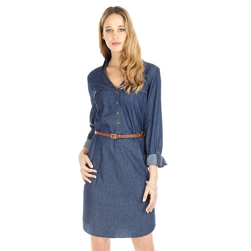 Women's Indication Denim Shirtdress