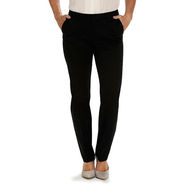 Petite Lee Modern Curvy Fit Straight-Leg Pants