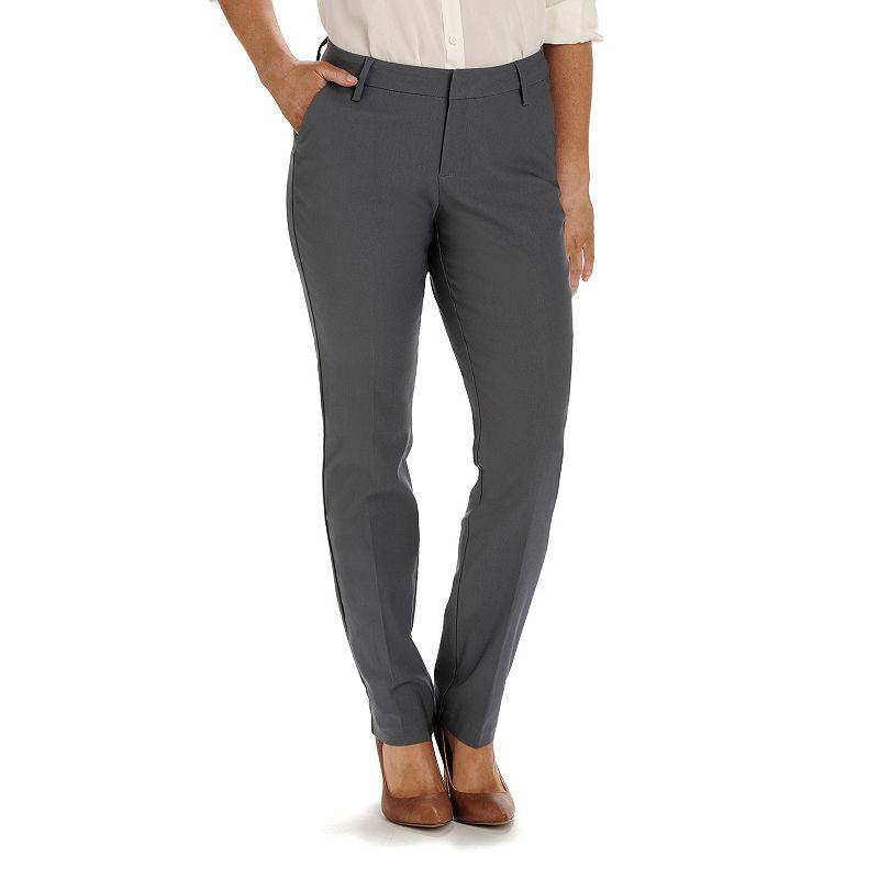 Petite Lee Modern Fit Curvy Straight-Leg Pants
