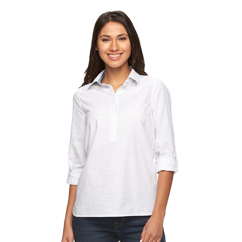 Women's SONOMA Goods for Life™ Roll-Tab Shirt