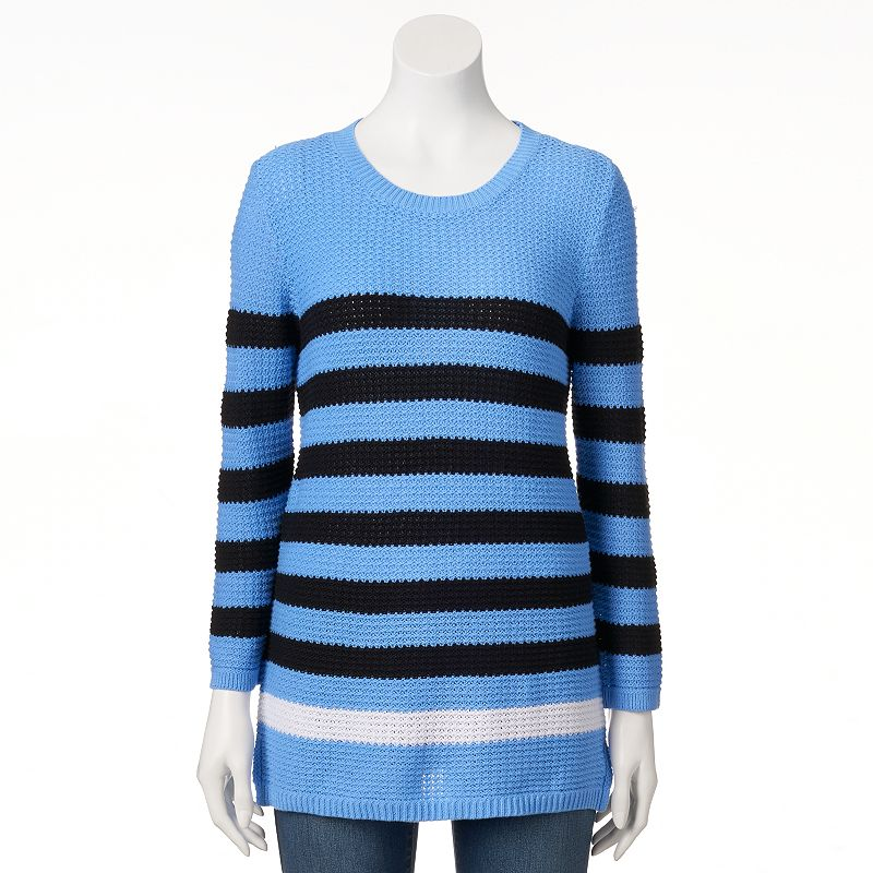 Women's Croft & Barrow® Textured Crewneck Sweater