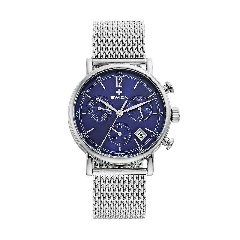 SWIZA Men's Alza Stainless Steel Swiss Chronograph Watch