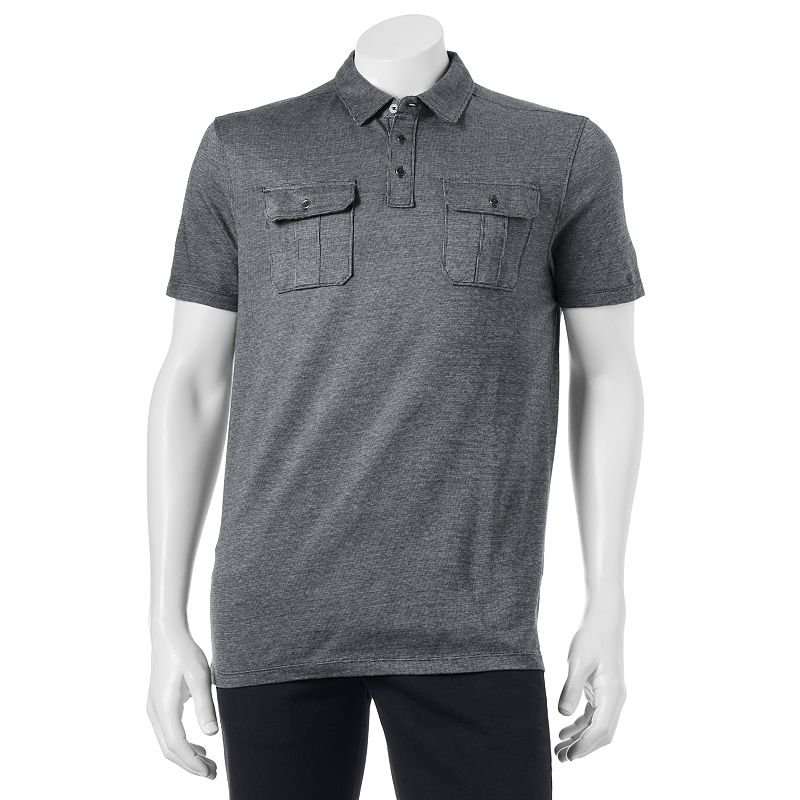 Big & Tall Apt. 9® Modern-Fit Textured Military Polo