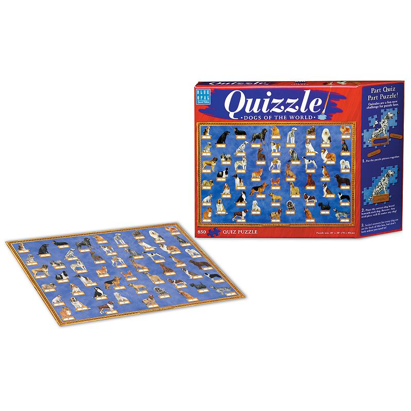 Blue Opal 850-pc. Dogs of the World Quizzle Jigsaw Puzzle