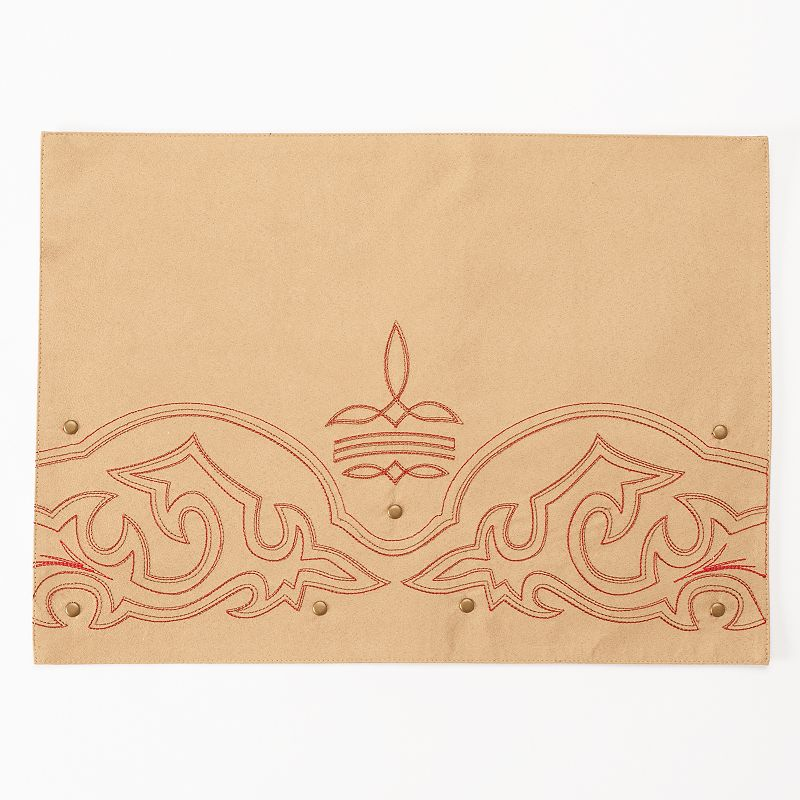 Celebrate Local Life Together Faux-Leather Stitch Placemat
