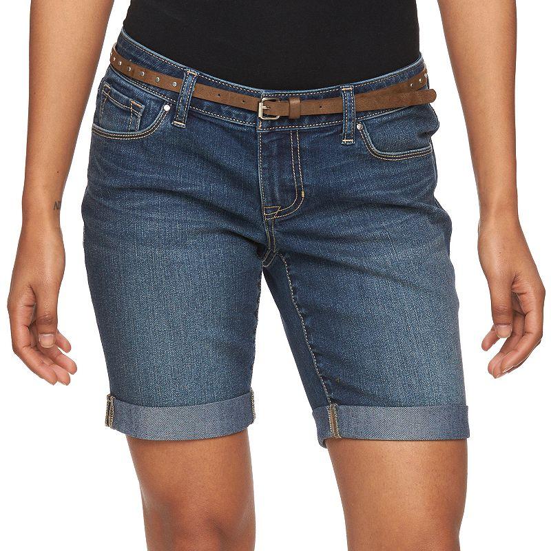 Petite Apt. 9® Modern Fit Bermuda Jean Shorts
