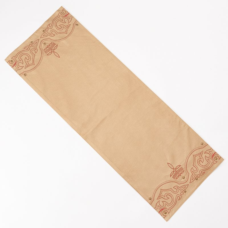 Celebrate Local Life Together Faux-Leather Stitch Table Runner - 36
