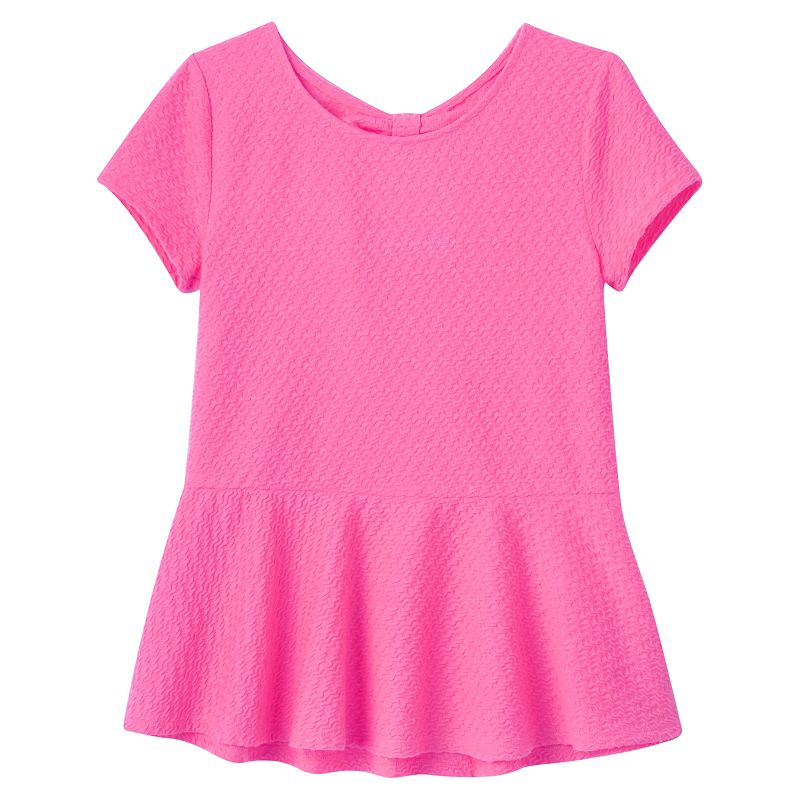 Girls 7-16 & Plus Size SO® Bow-Back Peplum Top
