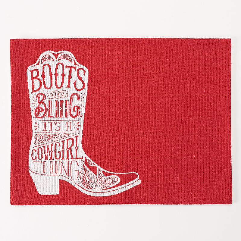 Celebrate Local Life Together Red Boot Placemat