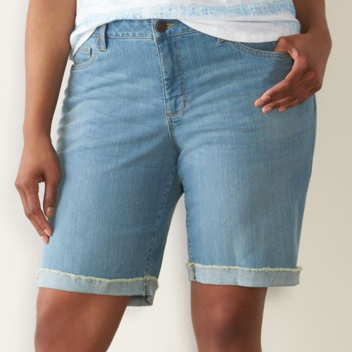 Plus Size SONOMA Goods for Life™ Bermuda Jean Shorts