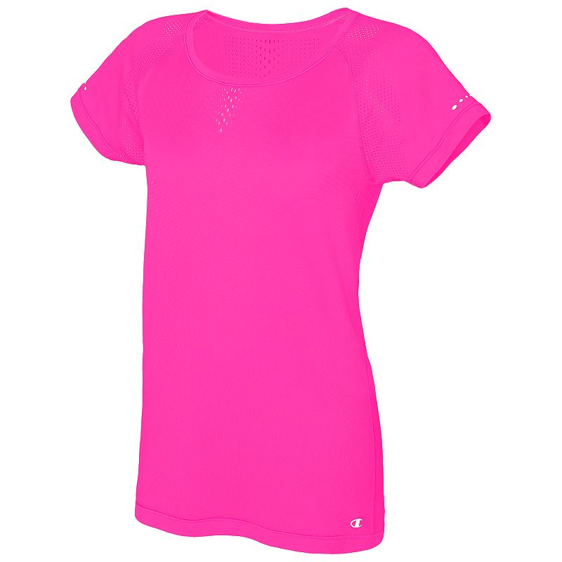 Women's Champion Seamless Mesh Scoopneck Workout Tee