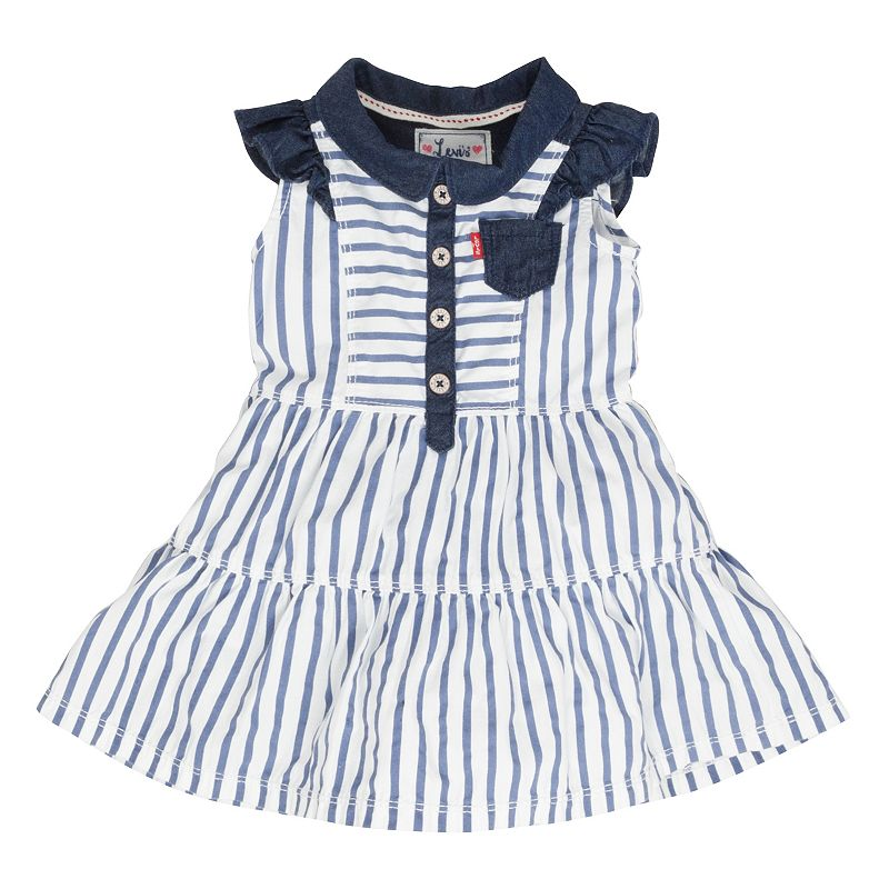 Baby Girl Levi's Striped Tiered Dress