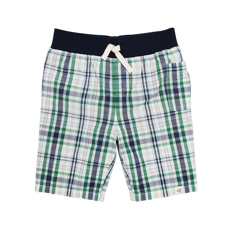 Baby Boy Burt's Bees Baby Plaid Organic Shorts