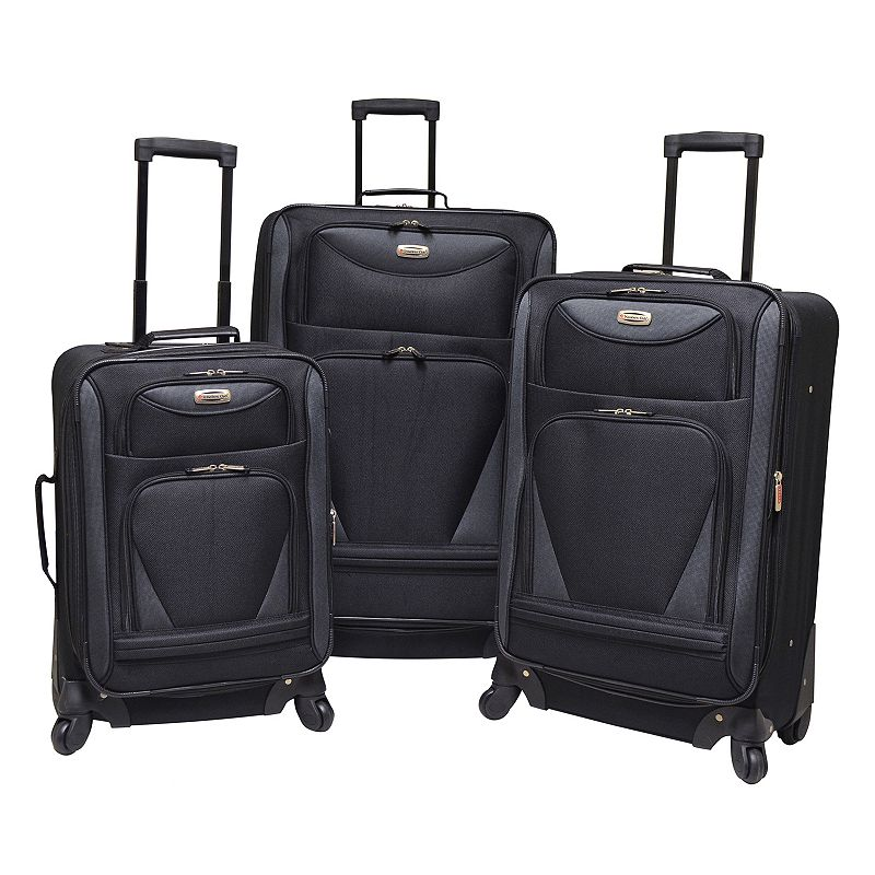 Travelers Club Sky-View 2.0 3-Piece Spinner Luggage Set