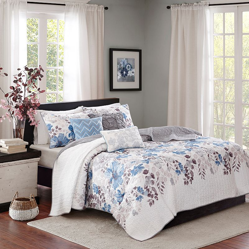 Madison Park Piper 6 Piece Quilted Coverlet Set