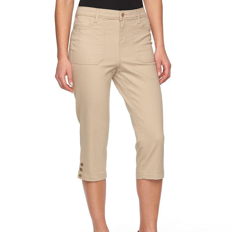 Petite Gloria Vanderbilt Madelaine Capri Jeans