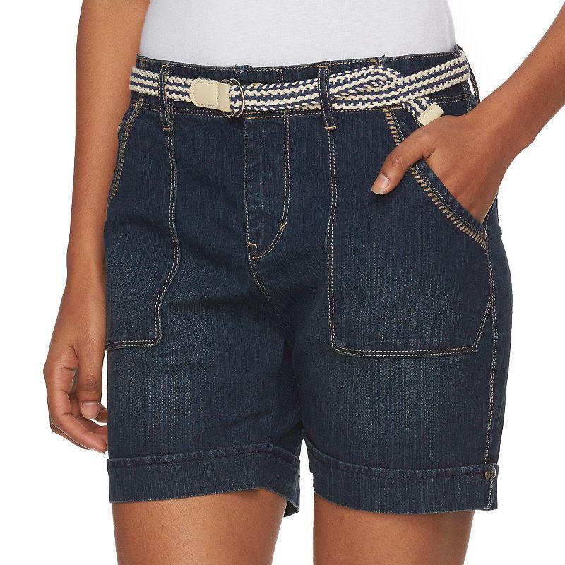 Petite Gloria Vanderbilt Milah Cuffed Jean Shorts