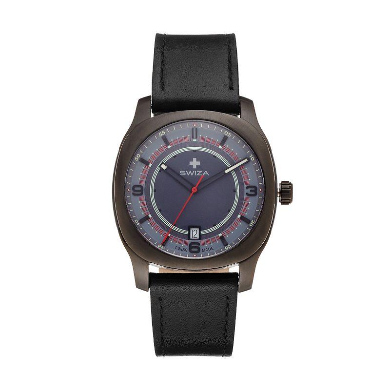SWIZA Men's Nowus Leather Swiss Watch - WAT.0541.1201