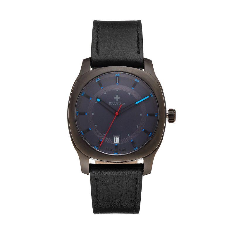 SWIZA Men's Nowus Leather Swiss Watch - WAT.0541.1202