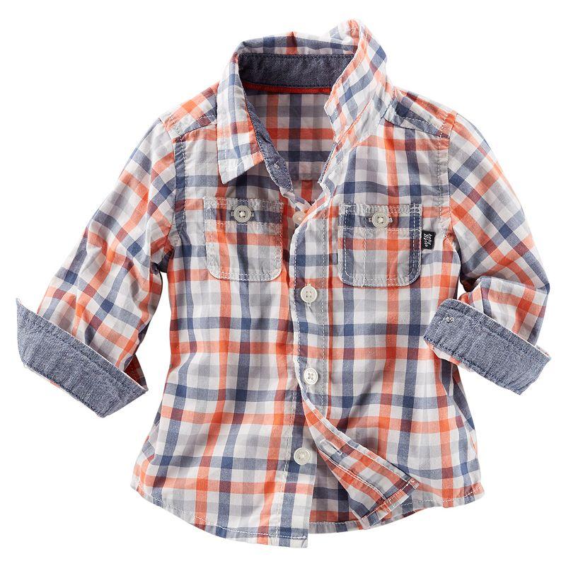 Baby Boy OshKosh B'gosh® Plaid Long-Sleeve Shirt