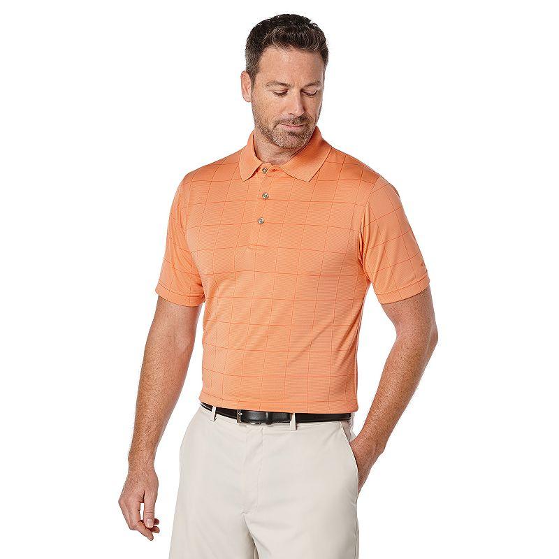 Men's Grand Slam Window Pane Classic-Fit Airflow Performance Golf Polo