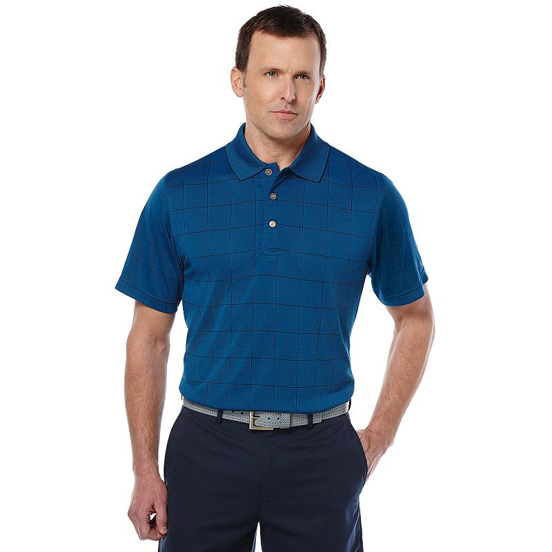 Men's Grand Slam Window Pane Classic-Fit Airflow Performance Golf Polo