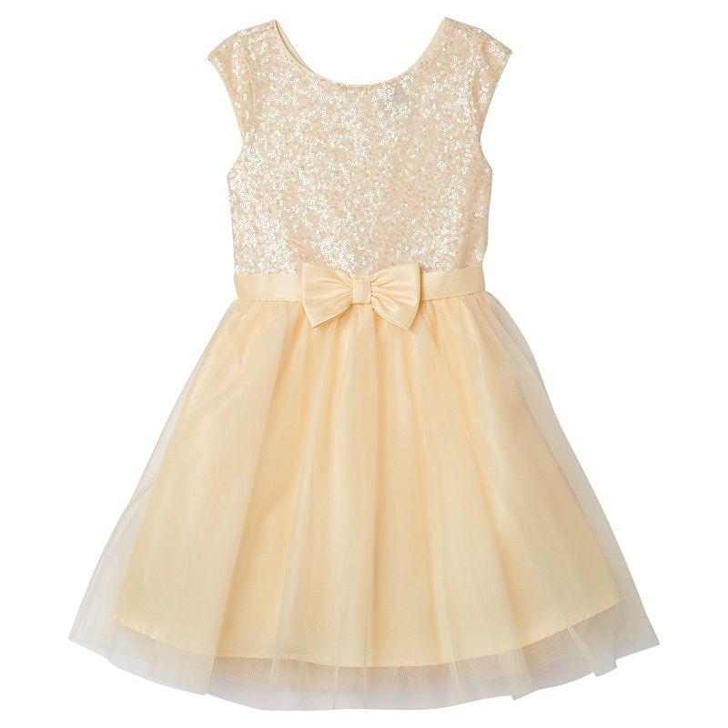 Girls 7-16 lilt Sequin & Mesh Dress