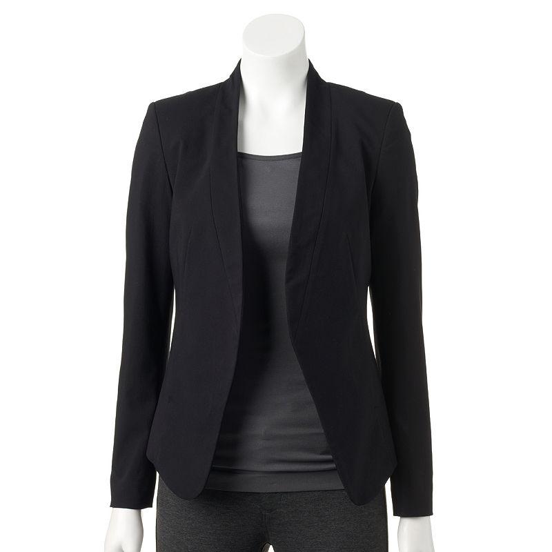 Women's Apt. 9® Solid Open-Front Blazer