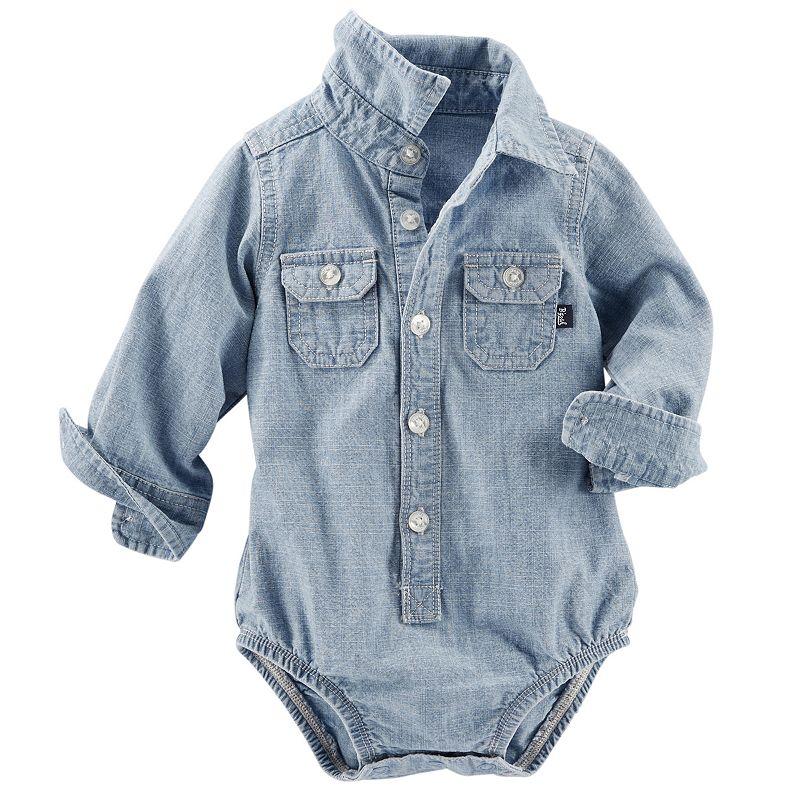 Baby Boy OshKosh B'gosh® Chambray Button-Down Bodysuit