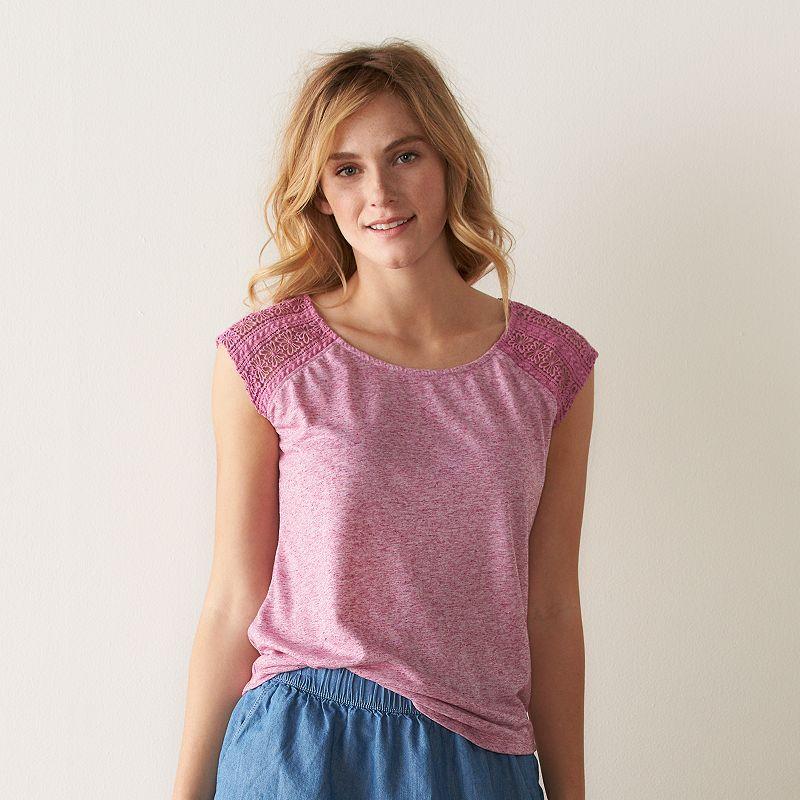 Women's SONOMA Goods for Life™ Crochet Scoopneck Tee