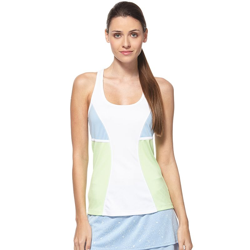 Women's Grand Slam Colorblock Racerback Tennis Tank
