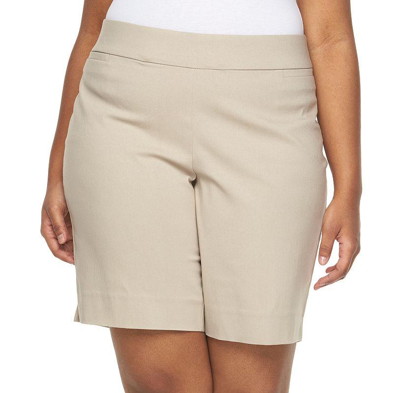 Plus Size Apt. 9® Millennium Pull-On Bermuda Shorts