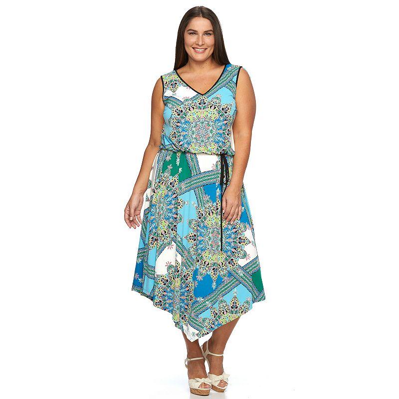 Plus Size Suite 7 Floral Blouson Dress