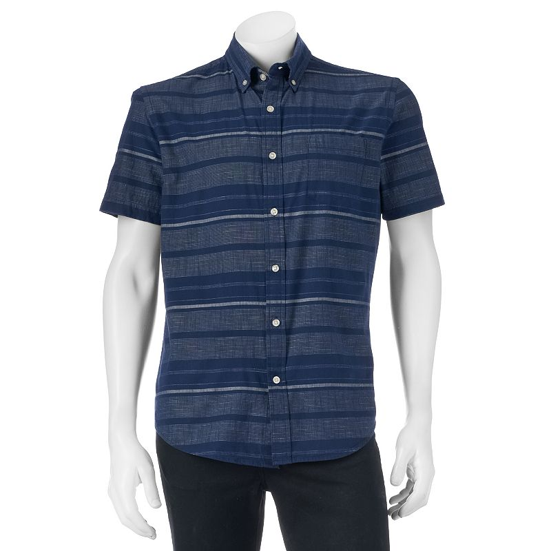 Men's SONOMA Goods for Life™ Classic-Fit Striped Poplin Button-Down Shirt